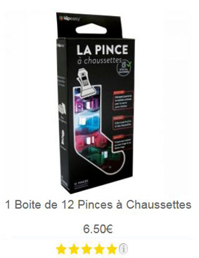 Pince chaussette 12
