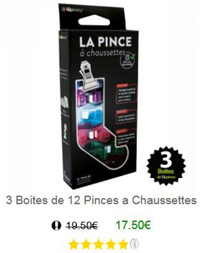 Pince chaussette 36