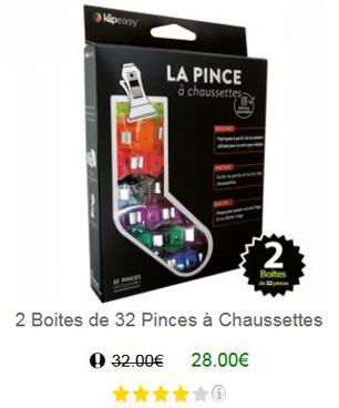 Pince chaussette 64